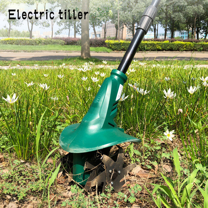 Household Multi-function Electric Cultivator Weeder Rechargeable Small Shovel Cultivator Agricultural Rotary Tiller Cultivator E
