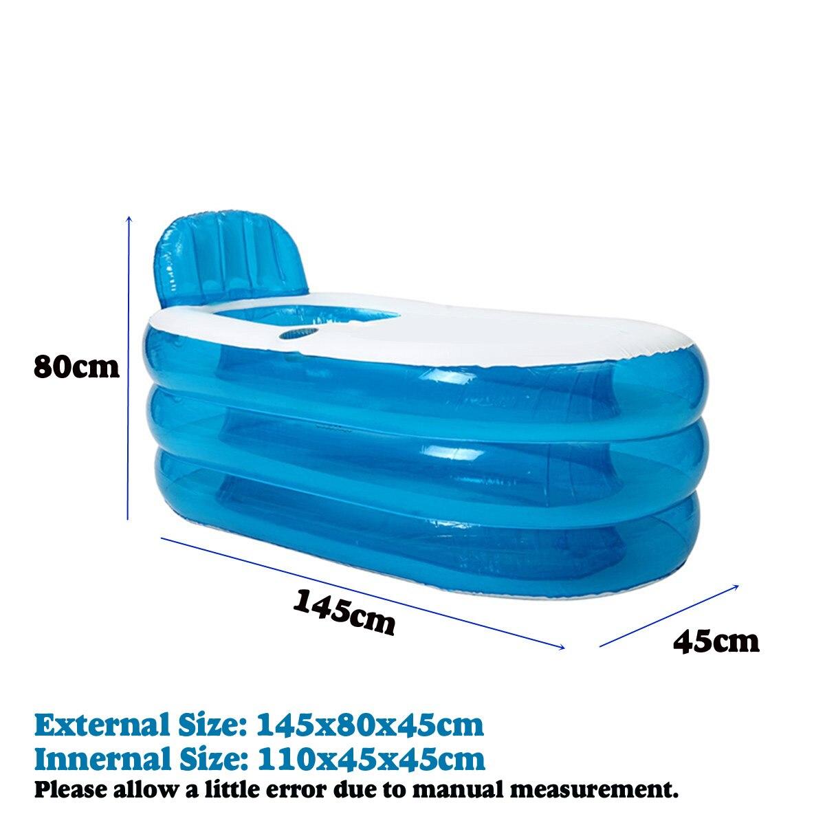 Été grande baignoire gonflable Double adultes Portable PVC baignoire en plastique maison Camping voyage pliant avec coussin tuyau SPA