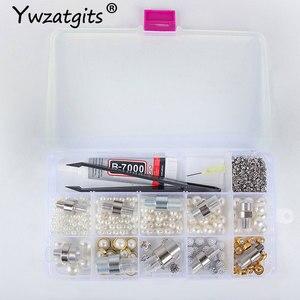 Image 3 - Ywzatgits 1 مجموعة تحديد أداة الخياطة اللؤلؤ حبة إرفاق آلة للملابس/لوازم الملابس YJ0229