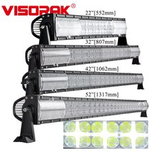 VISORAK 22 32 42 52 Inch Offroad Straight LED Light Bar White Position Light Truck Car LED Bar For Auto 4x4 4wd SUV ATV Tractor