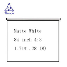 Thinyou Factory wholesale low price 84inch 4:3 Curtains and hand projector screen pantalla proyeccion for LED LCD HD Movie