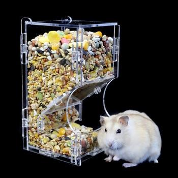Small Pet Feeder Acrylic Hamster Feeding Supplies Transparent Guinea Pig Feeding Box 2