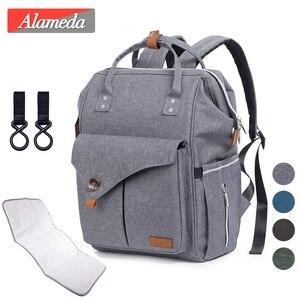 Image 1 - Набор сумок для подгузников для мам, модный многофункциональный дорожный рюкзак для мам, вместительные водонепроницаемые сумки для подгузников для мамы, 2020