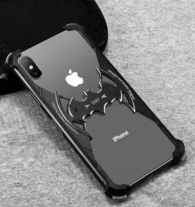 Image 5 - OATSBASF yarasa tasarım tampon hava yastığı Metal iPhone için kılıf X durumda kişilik halka tutucu kabuk iPhone 7 için 8 artı Metal kapak