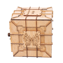 3D Puzzles Wooden Password Treasure Box Mechanical Transmission Puzzle Ukraine UGEARS Model Valentines Day Creative Gifts Grow
