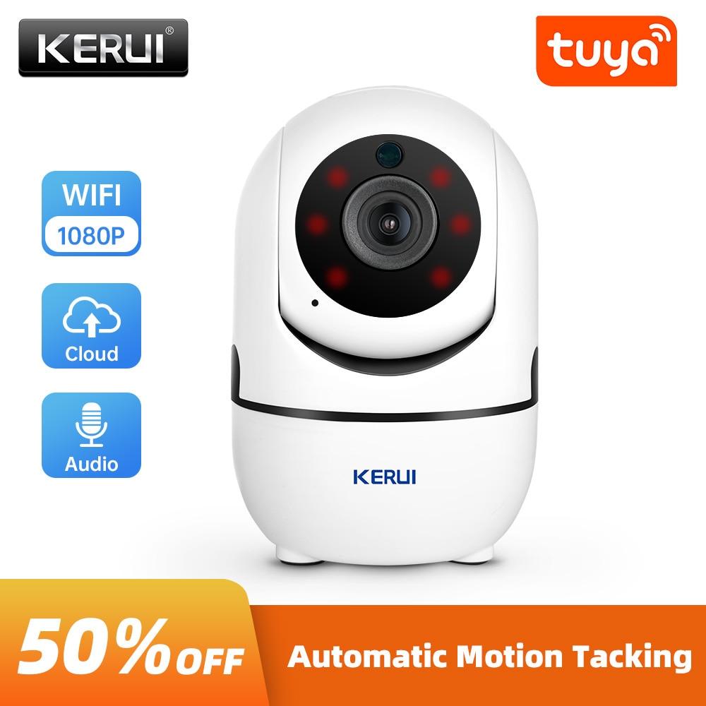 KERUI 1080P Mini Indoor Wireless Security Wifi IP Camera Home CCTV Surveillance Tuya Smart Camera 2MP Auto Tracking Night Vision