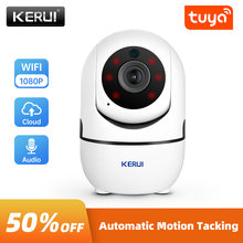 KERUI 1080P Mini Indoor Wireless Security Wifi IP Camera Home CCTV Surveillance Tuya Smart Camera 2MP Auto Tracking Night Vision