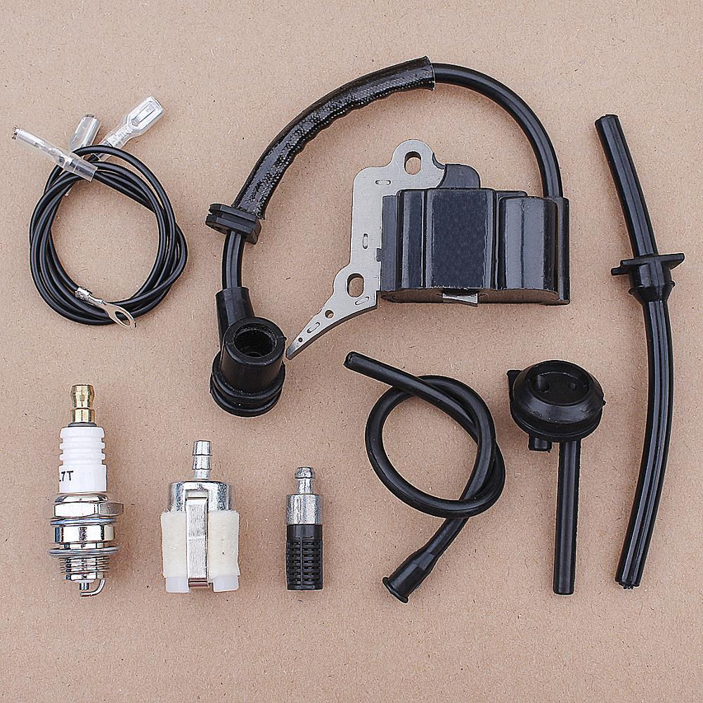 Ignition Coil Module Fuel Filter Line Pipe Kit For Chinese Chainsaw 2500 25CC Zenoah G2500 Garden Spare Parts