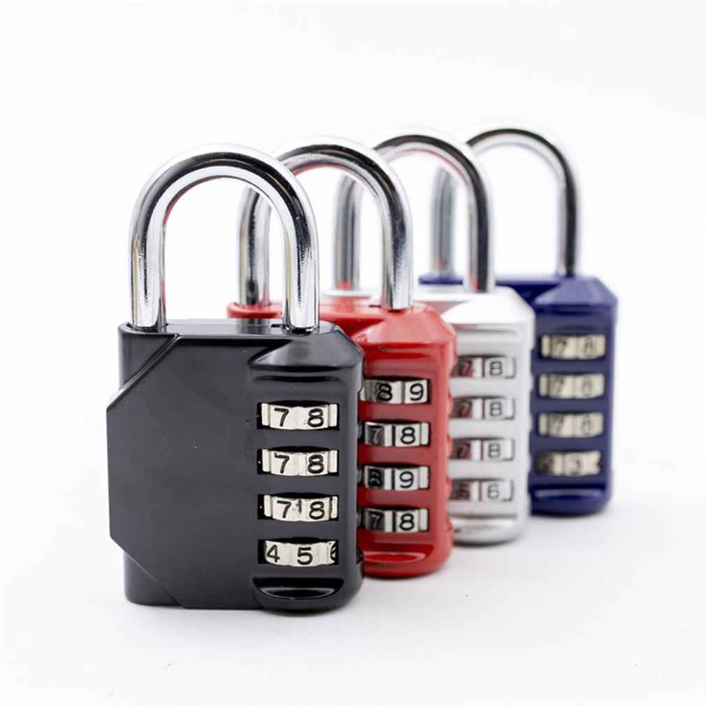 ダイヤル桁パスワードロックコンビネーションスーツケース荷物金属コード南京錠ジムスイミングプール食器棚キャビネットロッカー