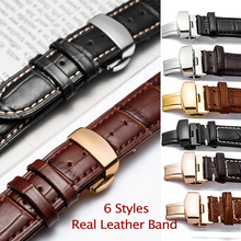 For Tissot Seiko Calfskin Leather Watch Band 18mm 20mm 22mm 24mm Straps with Butterfly Buckle Smartwatch Wrist Strap Correa