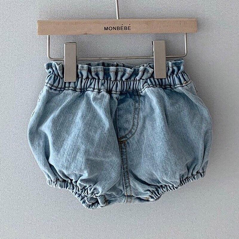 Letnie spodenki dla dzieci jednokolorowe krótkie spodnie dziecięce spodenki jeansowe dla niemowląt niemowlę dziewczynki Pp spodnie dziecięce spodnie typu Casual