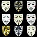 Вечерние Косплэй V for Vendetta» хакер анонимные маска Гай Фокс Хэллоуин Рождество для взрослых и детей праздничный маскарадный костюм фильм тем...