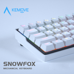 Image 4 - KEMOVE SnowFox 61 Key Mechanical Keyboard Switch 60% NKRO Bluetooth PBT Keycaps Wireless Wired Gaming Keyboard PC TABLET vs DK61