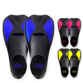 Flippers sporty wodne płetwy do pływania Snorkel elastyczne neoprenowe antypoślizgowe buty do pływania pływanie nurkowanie płetwy dla dorosłych sporty wodne tanie i dobre opinie Diving Fins RUBBER