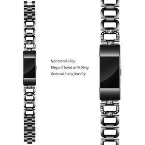 Image 3 - OULUCCI יהלומים עבור Fitbit תשלום 3 להקת מתכת רצועת נירוסטה ReplaceableFor fitbit תשלום 3 צמיד נשים