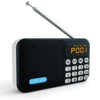 Araba DAB dijital radyo taşınabilir Stereo hoparlör Mini kablosuz BT MP3 çalar FM radyo