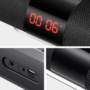 Image 5 - SANLEPUS Bluetooth Loa Ngoài Trời Kim Loại Di Động Siêu Bass Không Dây Loa 3D Nhạc Stereo Vòm Với TFCard Aux