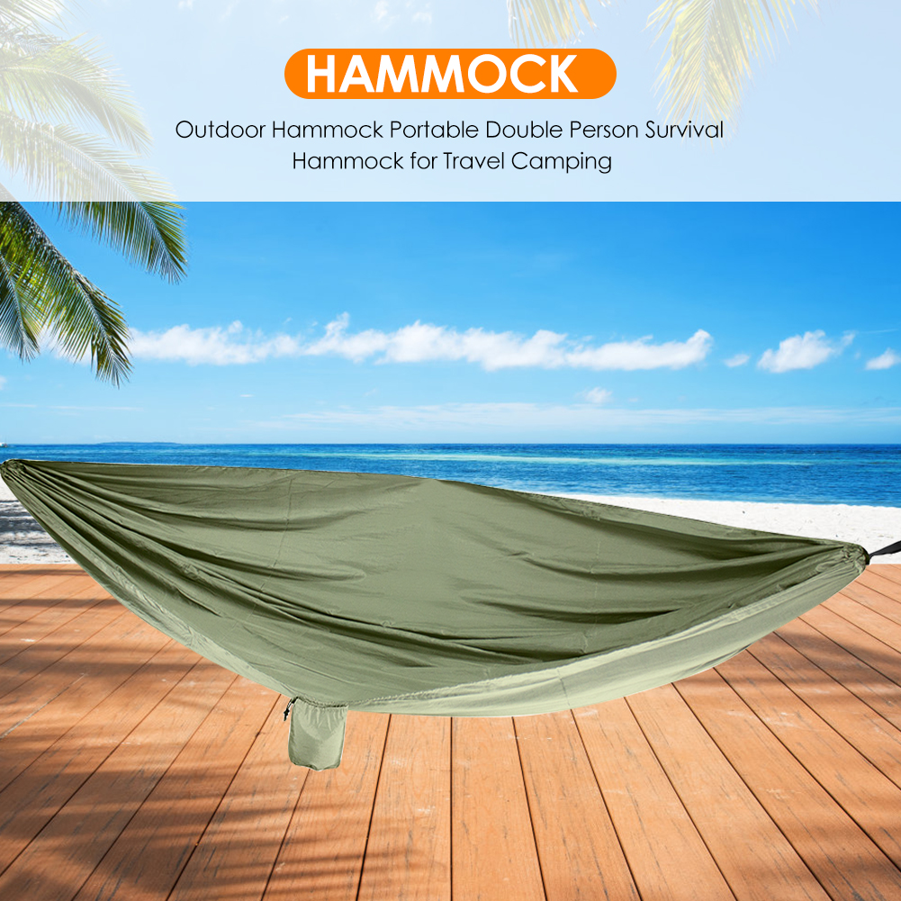 Durable Nylon Hammocks With Straps Portable Backpacking Double Person Sleeping Bed For Outdoor Camping Survival Hunting