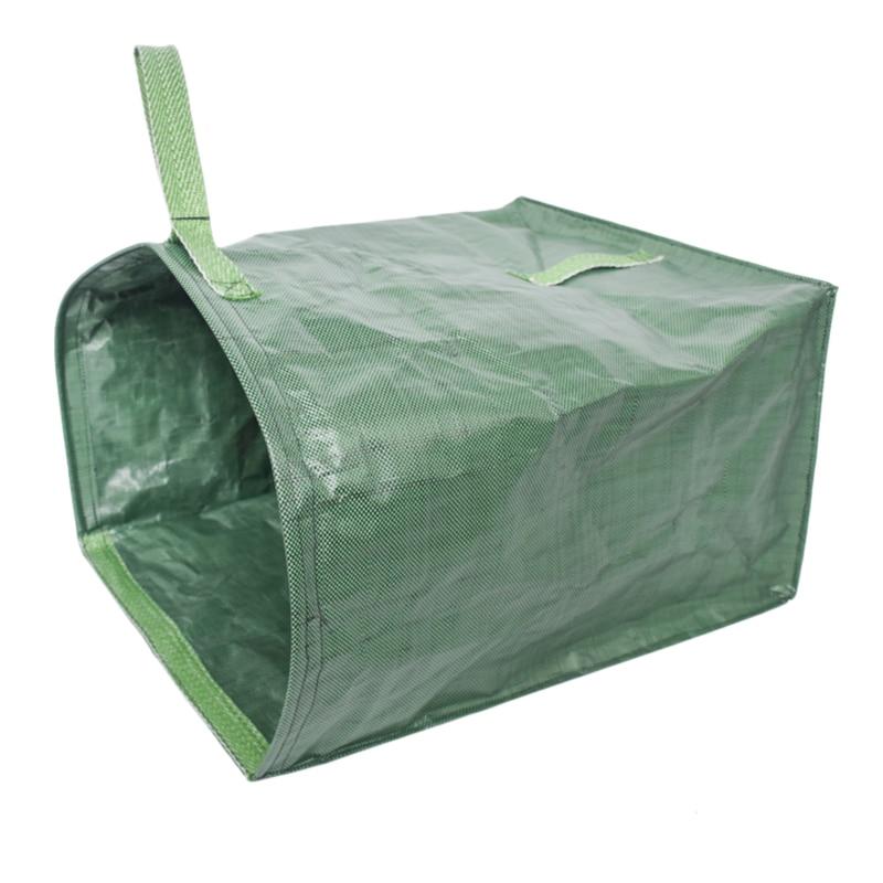 Ev ve Bahçe'ten Bitki Torbaları'de Yeşil bahçe çim yaprak Yard atık torbası büyük temiz Up konteyner Tote bahçe çöp yeniden kullanımlık çöp torbası saklama torbaları title=