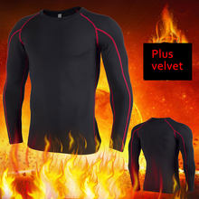 Thermo Shirt Slim Fit Round Neck Men's Underwear Sport Termal Tshirt Long Sleeve Quick Dry Compressed Underwear Seek Merino(China)