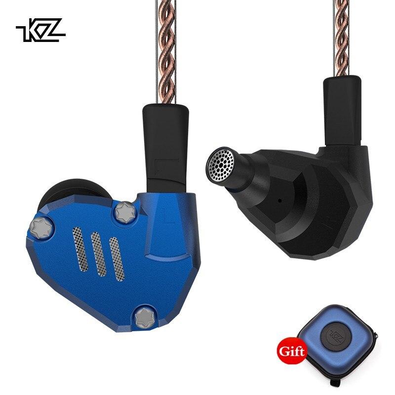 KZ ZS7 écouteurs 4BA + 1DD hybride dans l'oreille casque HIFI basse casque DJ moniteur écouteurs écouteurs KZ ZS6 AS10 ZST ES4 ED16 BA10
