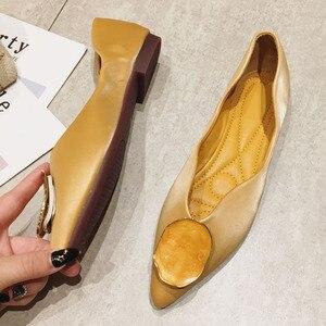 Image 5 - Zapatillas de Ballet para mujer, calzado sin cordones, poco profundo, para primavera y otoño, 2020