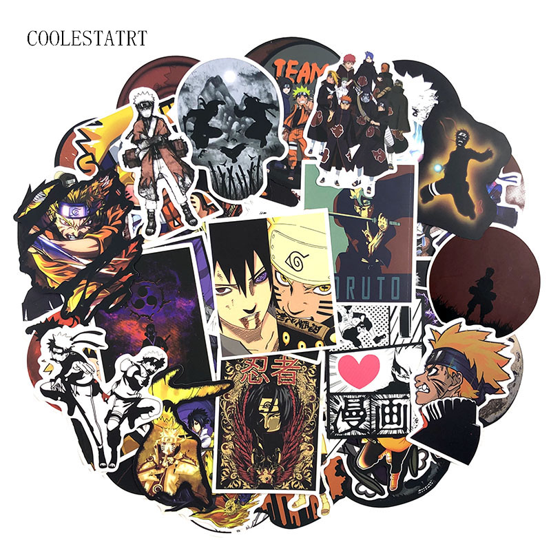 50-100Pcs/Pack Japanese Anime Graffiti Stickers Naruto Stickers For Luggage Laptop Refrigerator Motorcycle Skateboard Pegatinas