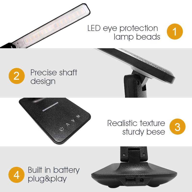 LAOPAO QI Wireless Charging LED Desk Lamp 10W With Calendar Temperature Alarm Clock Eye Protect Reading Light Table Lamp 2020 4