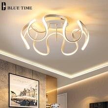 Золотой белый Потолочный светильник для спальни гостиной современный