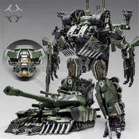 COMIC CLUB jiang wei Transformation Schlägerei Camouflage Oversize SS Führer Alloy M1A1 Tank Modus KO Action Figur Roboter Spielzeug