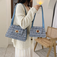 Small Bag Korean Version of The Plaid Shoulder Bag Fashion Versatile Portable Small Square Bag Crossbody Bags for Women 2017 new women bag beautiful women version of the purse fashion bags