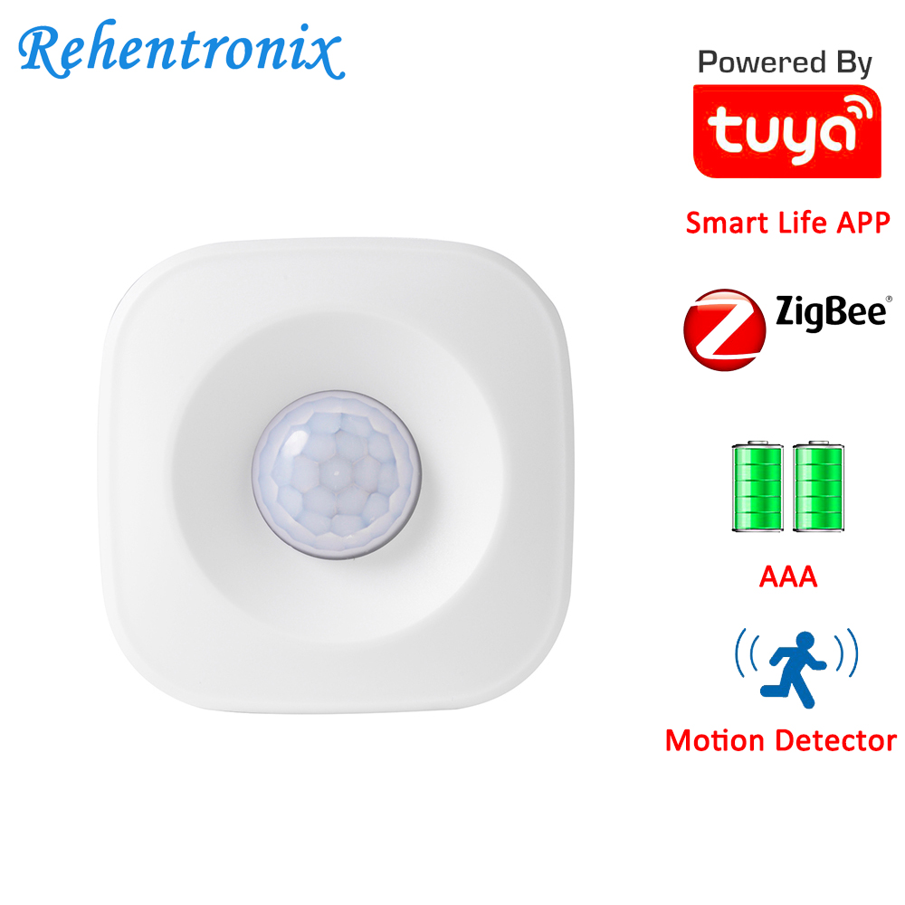 AAA Battery Operated Tuya ZigBee PIR Motion Sensor Detector Works with Tuya ZigBee Hub ZigBee Alexa Echo Show Plus