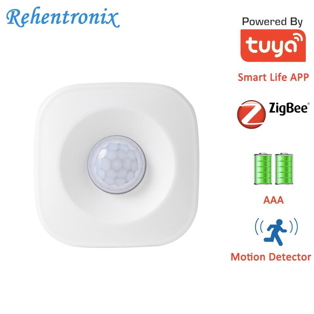 AAA Battery Operated Tuya ZigBee PIR Motion Sensor Detector Works With Tuya ZigBee Hub