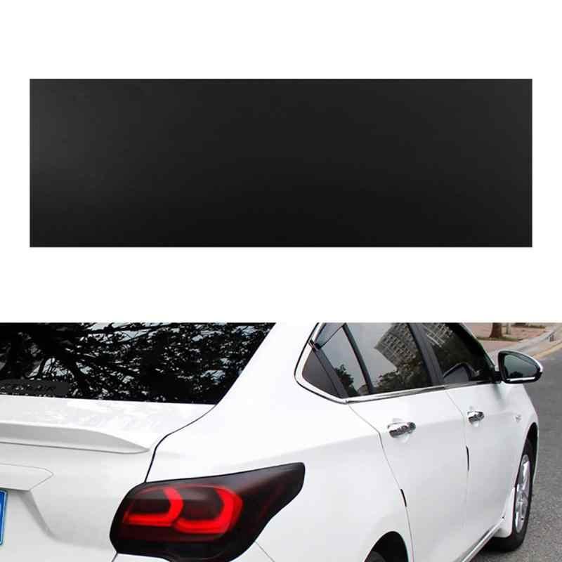 Tint filme vinil adesivo folha, fosca, preta, à prova d' água, resistente ao solvente, para farol de carro, lanterna traseira, vidro