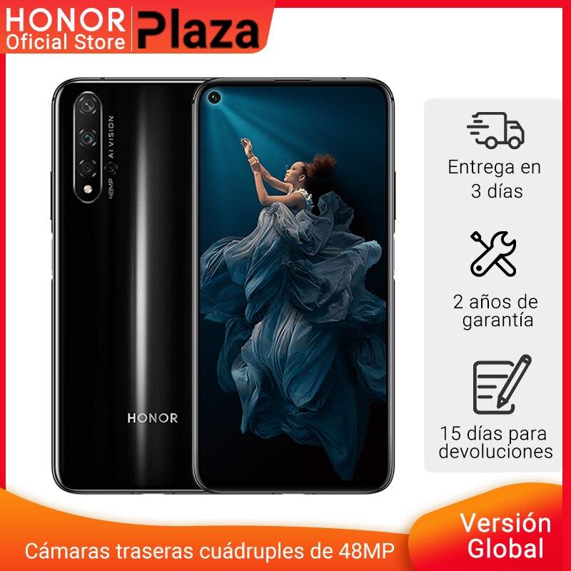 Honor da versão global 20 smartphone 6gb 128gb kirin 980 6.26 484848mp quatro câmeras celular google play supercharge nfc