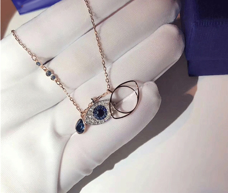 Blue Turkish Evil Eye Charm Choker Necklace eyes Pendants Necklaces for Women Gifts 925 sterling silver luxury brand jewelry