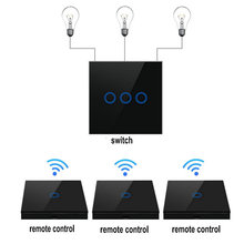 Smart Switch 2 way Wireless RF Remote Control Transmitter Glass Panel switch shape for wall light smart home switch
