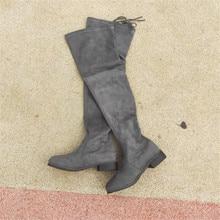 women winter thigh flat Womens shoes Overknee Thin High boots