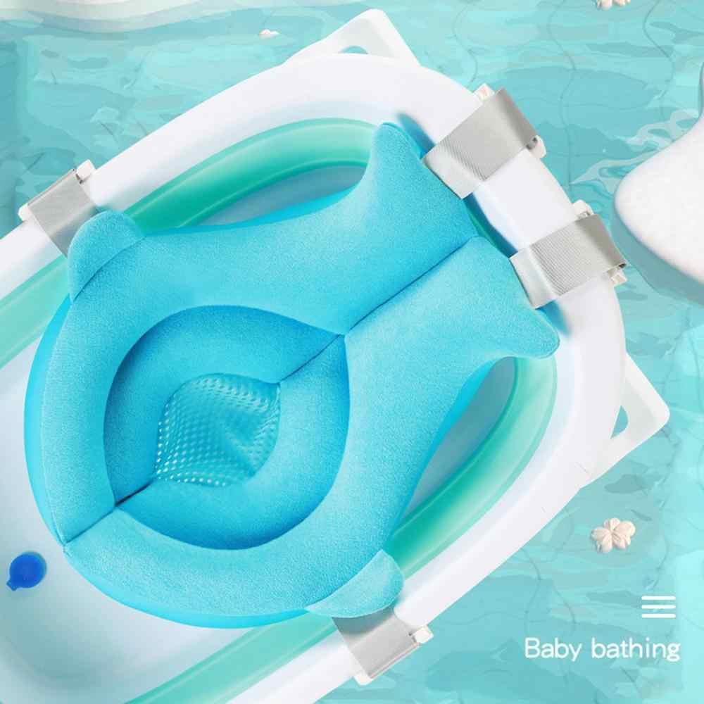 漫画ポータブルベビーシャワーバスタブパッドノンスリップ浴槽マット新生児安全保障バース支援クッション折りたたみソフト枕