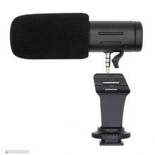 Быстрая MIC-06 микрофон 3,5 мм конденсаторный телефон видео камера интервью микрофон для iPhone samsung Xiaomi