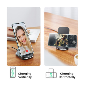 Image 2 - Bezprzewodowa ładowarka UGREEN Qi stojak na iPhone 11 Pro X XS 8 XR Samsung S9 S10 S8 S10E ładowarka do telefonu szybka bezprzewodowa stacja ładująca