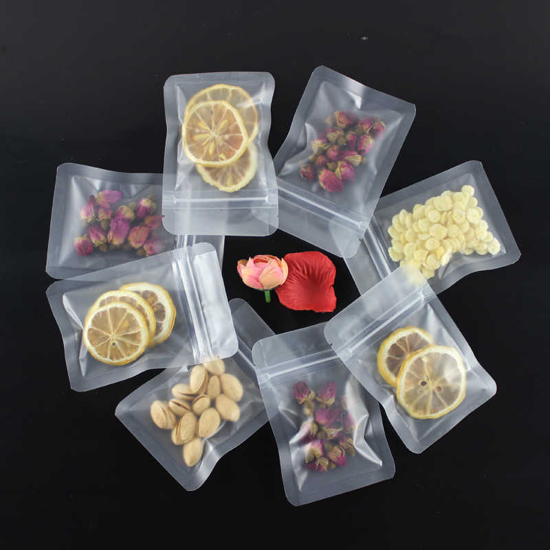 HARDIRON Thickened Frosted Flat-bottom Zipper Bag for Food Nuts Fruits Dry Transparent Storage and Sealed Packaging Bag