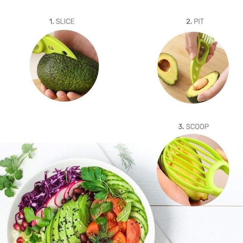 Kitchen Accessories Avocado Slice Avocado Knife Multi-functional Avocado Peeling Knife Kitchen Gadget Avocado Cutter