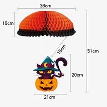 3pcs Halloween Decorations Hanging Ornaments Door Window Pumpkin Tag Decoration Party Haunted House Props