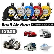 Universal 12V DC 130db Motorcycle Snail Air Horn Siren Super Loud For Car Truck Motorbike Waterproof