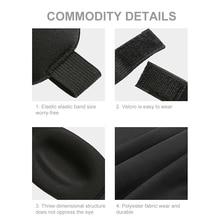 3D Soft Padded Blindfold Blackout Eye Mask Travel Sleep Aid Shade Cover Relax Sleeping Blindfold