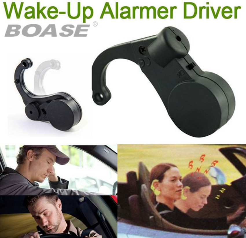 Black Wake-Up Alarmer Driver Road Safety Ear Warner Drive Keep Awake Anti-sleep Drowsy Alarm Doze Nap Car Safe Alert