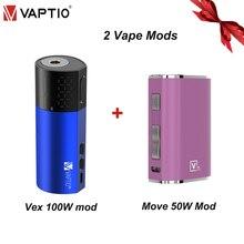 E cigarette mod 100W Vaporizer Vapor Kit mod Vaptio Vex 100W TC Box Mod fit 510 thread