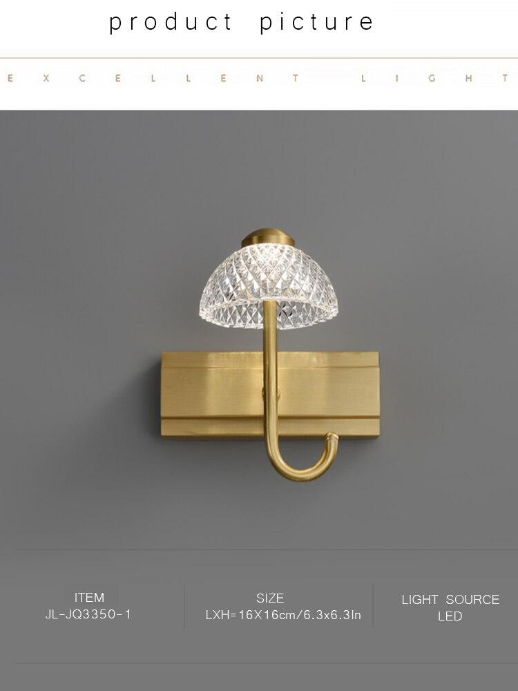 armário espelho de cobre luz led especial