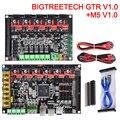 BIGTREETECH GTR V1.0 плата управления 32 бит + плата расширения M5 V1.0 части 3D-принтера TMC2209 TMC2208 VS SKR V1.4 SKR PRO MKS GEN L